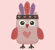 Hipster Owlet Purple Kids Clothes