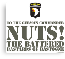 101st AIRBORNE- NUTS Canvas Print