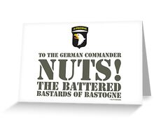 101st AIRBORNE- NUTS Greeting Card