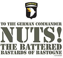 101st AIRBORNE- NUTS Photographic Print