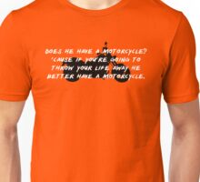 Gilmore Girls – does he have a motorcycle? Unisex T-Shirt