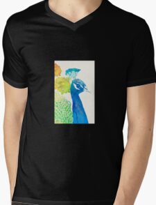Elegant Peacock Mens V-Neck T-Shirt