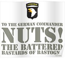 101st AIRBORNE - NUTS! Poster