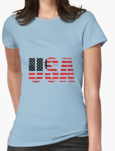 USA-2A Womens Fitted T-Shirt