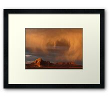 Sunset and Rain Framed Print