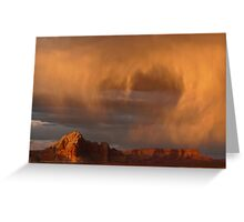 Sunset and Rain Greeting Card