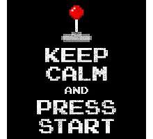 Keep Calm & Press Start Photographic Print
