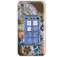 Mosaic TARDIS with Clock iPhone Case/Skin