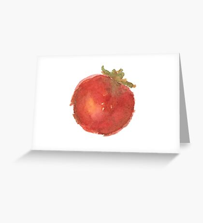 Red Watercolor Tomato Greeting Card