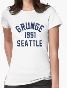 Grunge Womens Fitted T-Shirt