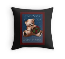 ABC Teddy Throw Pillow