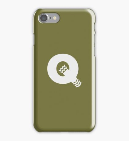 Q is for Quiver - White iPhone Case/Skin