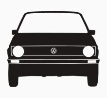VW Golf MK1 Front Black White Kids Tee