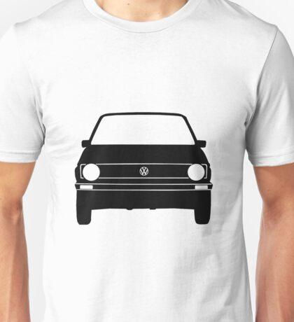 VW Golf MK1 Front Black White Unisex T-Shirt