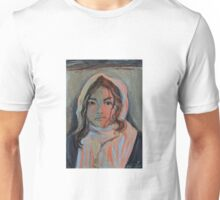 Scarved girl croquis portrait Unisex T-Shirt