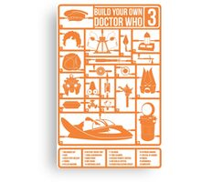 Build Your Own Doctor Who 3 Canvas Print