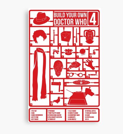 Build Your Own Doctor Who 4 Canvas Print