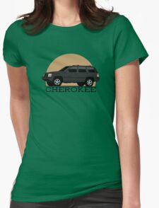 Jeep Grand Cherokee (ZJ) (black) Womens Fitted T-Shirt