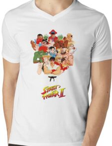 Street Fighter II Mens V-Neck T-Shirt