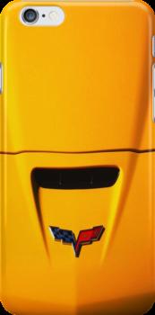 Little Yellow Corvette Case by Ron Hannah