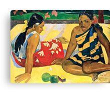 Paul Gauguin - Parau Api  What News (1892)  Canvas Print