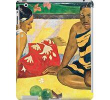 Paul Gauguin - Parau Api  What News (1892)  iPad Case/Skin