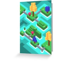 Pixel Islands Greeting Card