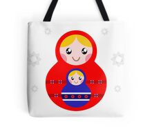 Russian nested dolls, also known as Matryoshka Tote Bag
