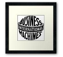 Old IBM logo Framed Print