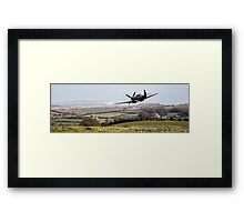Back over land Framed Print
