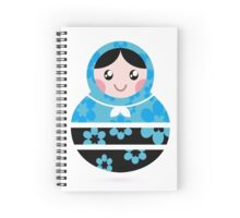 Traditional russian Matrioshka dolls Spiral Notebook