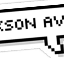 jackson avery speech bubble Sticker