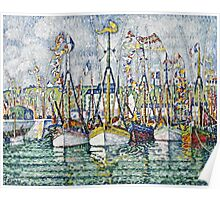 Paul Signac - Blessing Of The Tuna Fleet At Groix  Poster