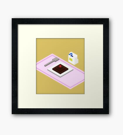 Plate Of Dessert Framed Print