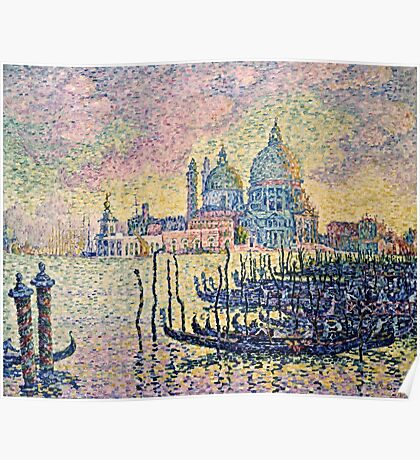 Paul Signac - Entrance To The Grand Canal, Venice  Poster