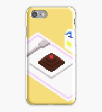Plate Of Dessert Pixels iPhone Case/Skin