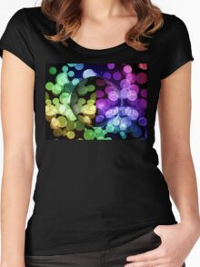 Abstract Globe Women's Fitted Scoop T-Shirt