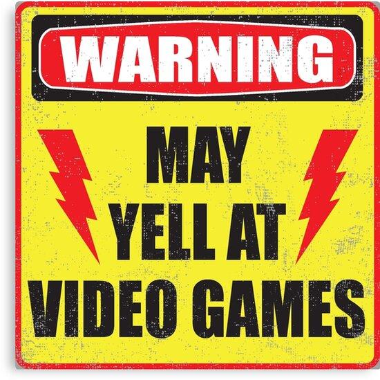 Gamer Warning by buzatron