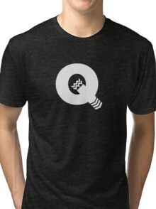 Q is for Quiver - White Tri-blend T-Shirt