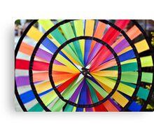 Graphic Rainbow Pinwheel Spinner Detail Canvas Print