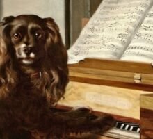 Philip Reinagle - Portrait Of An Extraordinary Musical Dog  Sticker