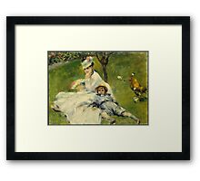 Pierre Auguste Renoir - Madame Monet And Her Son Framed Print