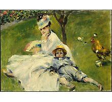 Pierre Auguste Renoir - Madame Monet And Her Son Photographic Print