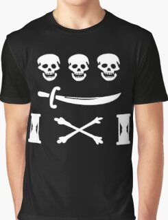 Jean Thomas Dulaien Pirate Flag Graphic T-Shirt
