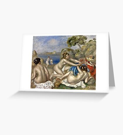 Renoir Auguste - Bathers Playing With A Crab  Greeting Card