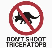 Don't Shoot Triceratops Kids Clothes