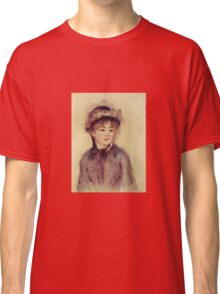 Renoir Auguste - Bust Of A Woman Wearing A Hat 1881 Classic T-Shirt