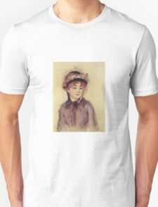 Renoir Auguste - Bust Of A Woman Wearing A Hat 1881 Unisex T-Shirt