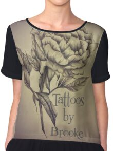 Tattoos by Brooke Business Card Chiffon Top