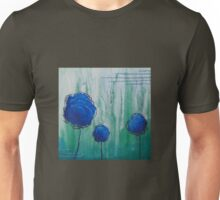 Abstract Flower, blue & green Unisex T-Shirt